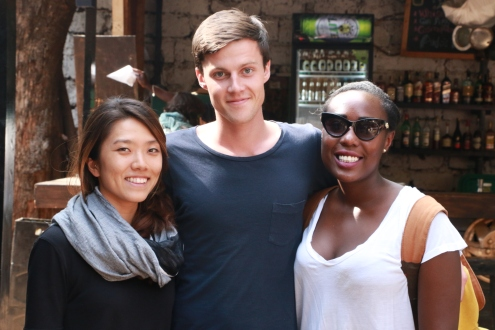 Koheun Lee, Justin Lovett and Jessica Maina