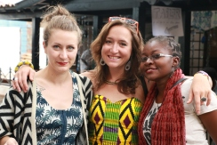 Swap Lab Owner Marah Koberle, Megan Iacobini de Fazio and Think Gorilla Project Manager Wambui Kinyua